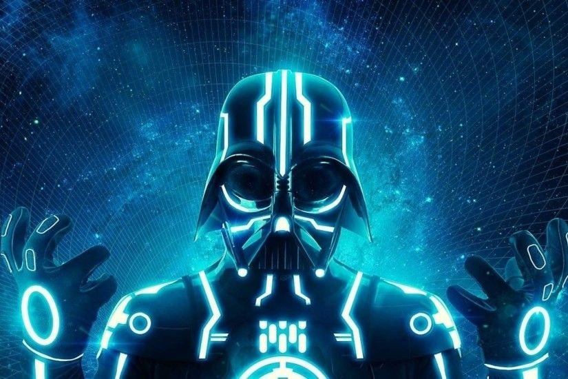 Star Wars, Darth Vader, Fan Art, Tron, Mix Up Wallpapers HD / Desktop and  Mobile Backgrounds