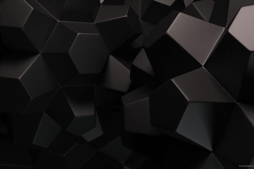 Dark Polygonal Objects for 1920x1080