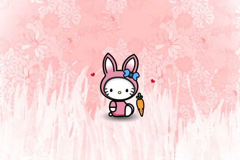 bunny hello kitty wallpaper (february)