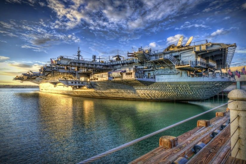 Wallpaper: HDR USS Midway. Ultra HD 4K 3840x2160
