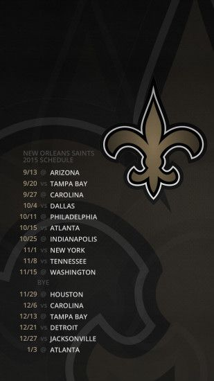 New Orleans Saints - 2015 Schedule - Desktop & Mobile