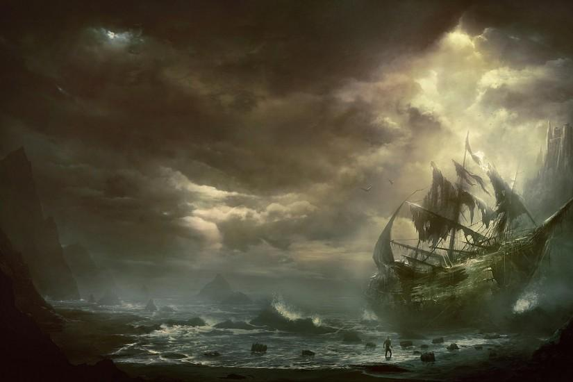 Wallpapers For > Ghost Ship Wallpaper