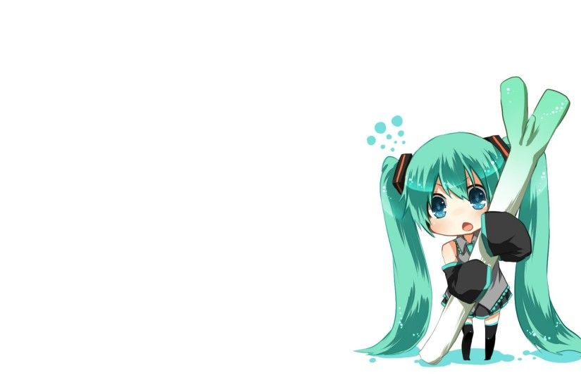 vocaloid white hatsune miku blue eyes chibi long hair twintails anime aqua  eyes aqua hair anime