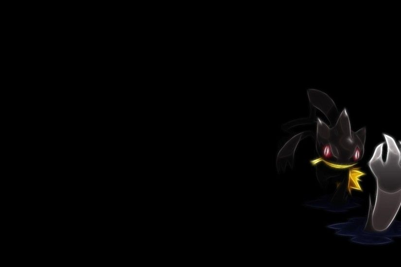 pokemon fractalius black background banette 1600x900 wallpaper Art HD  Wallpaper