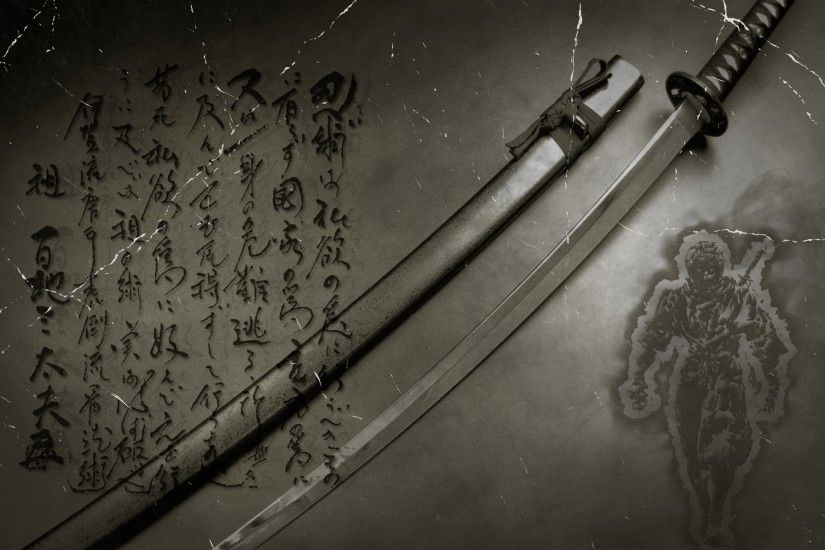 Sword, Anime, Japanese, Digital Art, Katana, Kanji Wallpapers HD / Desktop  and Mobile Backgrounds