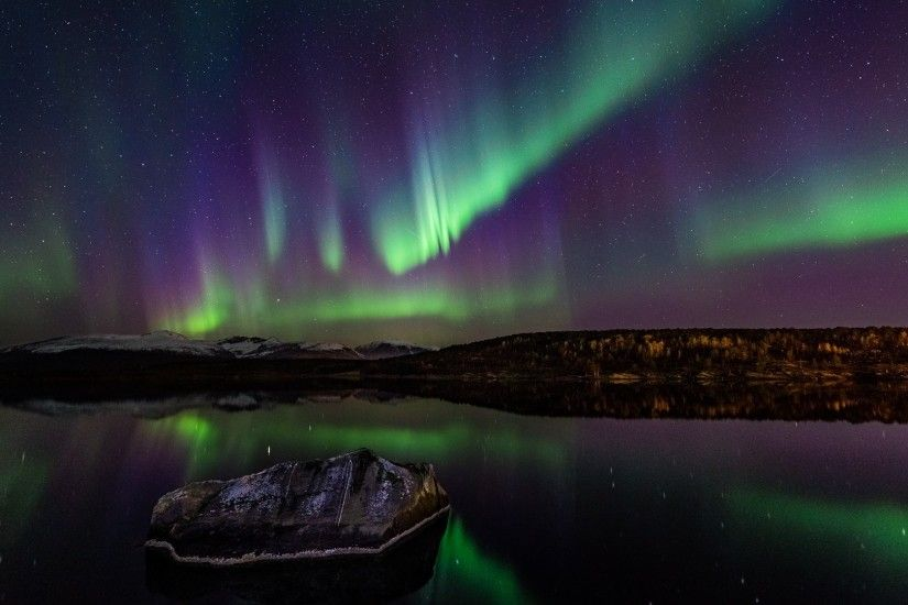 Night Norway Northern Lights