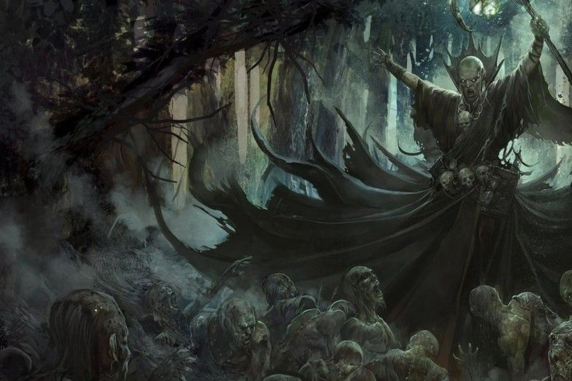 1920x1080 Necromancer artwork fantasy art forests undead wallpaper | (74665)