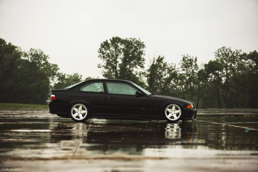 bmw m3 e36 black bmw coupe black rain