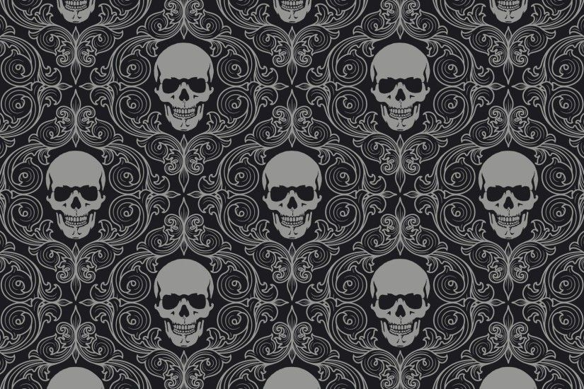 Preview wallpaper skull, drawing, gray, texture 1920x1080
