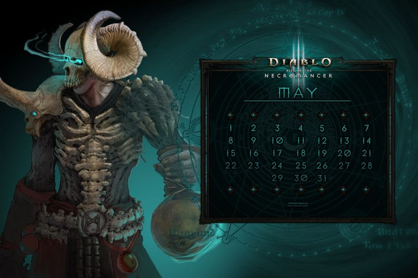 Wallpaper Art - Calendar #34: Uni May - Never Alone (Necromancer) - Diablo  Wallpaper and OS Art - Fan Art - DiabloFans Forums - Forums - Diablo Fans