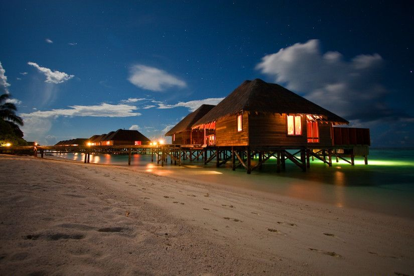 Night beach resort