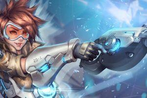 new overwatch tracer wallpaper 5120x2880 for tablet